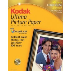 Kodak 8892796 Ultima Picture Paper, Glossy (8.5x11, 40 Sheets)