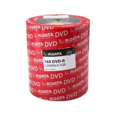 RiDATA DRD-4716-RD100ECOW 4.7GB 16X DVD-R 100 Packs Spindle Shrink Wrap by Ridata