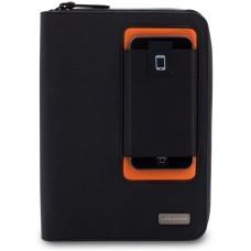 Lifeworks The Blazer - Universal Zipper Folio Case for 7/8 Tablets (Black/Orange)