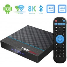 Android Box, TUREWELL T95 Max+ Android 9.0 TV Box Amlogic S905X3 Quad-core cortex-A55 4GB RAM 32GB ROM Media Player with 8K BT4.0 2.4G/5.0GHz Dual-Band WiFi USB3.0