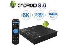 Android 9.0 TV Box with 2GB RAM 16GB ROM T95 MAX Android Boxes H6 Quad Core Mali-T720MP2 Supporting 6K Full HD/H.265/WiFi 2.4GHz Smart tv Box