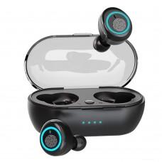 D10 TWS bluetooth 5.0 Earbuds Smart Touch Binaural Calls Wireless Hifi Earphone With Charging Box - Black