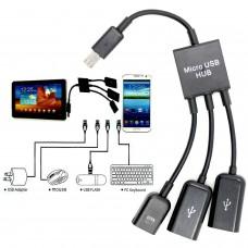 MICRO USB OTG HUB FOR SMARTPHONE AND TABLETS
