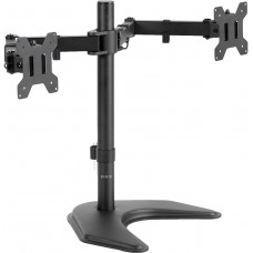 VIVO Dual LED LCD Monitor Free-Standing Desk Stand for 2 Screens up to 27 inches, Heavy-Duty Fully Adjustable Arms with Max VESA 100x100mm STAND-V002F