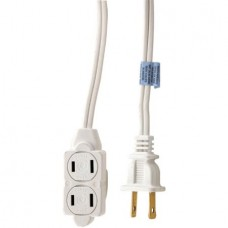 ELECTRO 3 OUTLET 10FT INDOOR POWER EXTENSION CORD