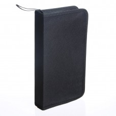 80 Disc Storage Wallets CD VCD DVD Music DJ Album Storage Bag Holder Case Wallet Black
