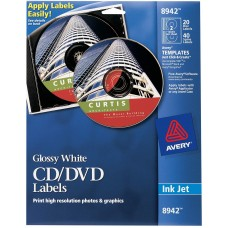 Avery white CD/DVD Labels. 40 pack