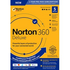 Norton 360 Deluxe – Antivirus software for 5 Devices