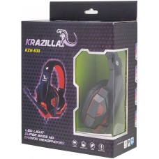 Krazilla Gaming Headset with mic - Super Bass HD Gaming Headphone Red LED Light