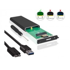 M.2 SATA SSD to USB 3.0 External SSD Reader Converter Adapter Enclosure with UASP, Support NGFF M.2 2280 2260 2242 2230 SSD with Key B/Key B+M