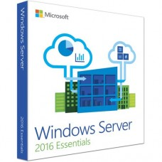 Microsoft Windows Server 2016 Essentials - License and Media  1 Server, 2 CPU - DVD-ROM - English - PC