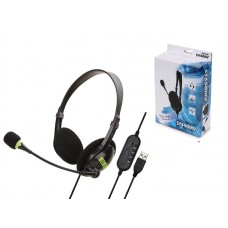 AURICULAR SY440MV USB HEADSET WITH MIC