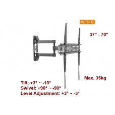 "BRATECK 37"" - 70"" FULL MOTION WALL MOUNT"