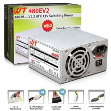 WT Power 480E 480W Single Fan 2x SATA/24-pin Power Supply V2.2