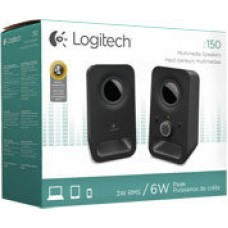 Logitech Z150 2.0 Channel Computer Speakers System - Black