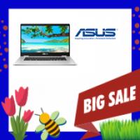 """ASUS C523 15.6"""" Chromebook - Silver (Intel Celeron N3350/64GB eMMC/4GB RAM/Chrome OS)"""