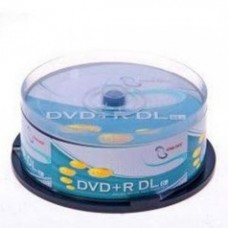 DATABYTE 8X DVD+R DUAL LAYER 25PK/INKJET PRINTABLE-8.5GB