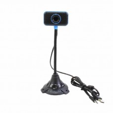 USB Webcam 10M Pixels/480P PC Camera with stand, mic build in,