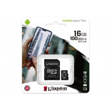 KINGSTON 16GB CANVAS SELECT PLUS MICRO SD CARD/CLASS 10