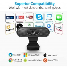 USB HD 1080P Webcam PC Camera Built-in Microphone Laptop Computer PC