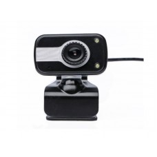 PC& Laptop USB 480p Webcam with Mic phone, 2 lights, stand & clip
