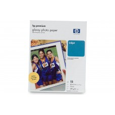"HP Premium Glossy Photo Paper/15 sheets of 8.5"" x 11"" photo paper"